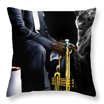 Da Satchmo N Me 1a Throw Pillow