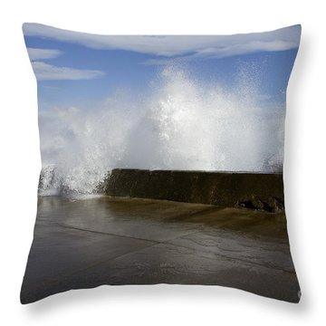 Da Wave Throw Pillow by Sharon Mau