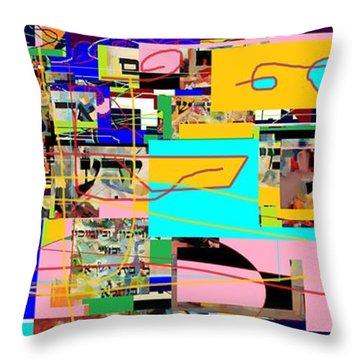 Daas 4 Throw Pillow by David Baruch Wolk
