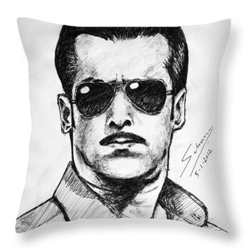 Salman Khan Throw Pillow