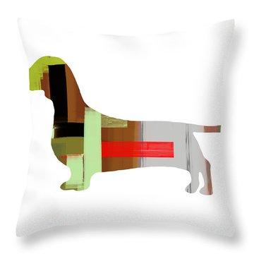 Dachshund Throw Pillow by Naxart Studio