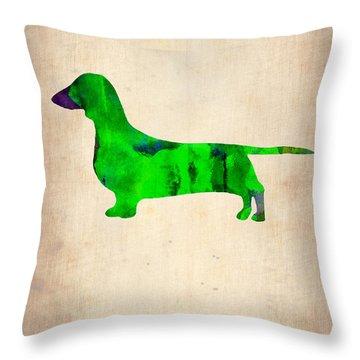 Dachshund Poster 1 Throw Pillow by Naxart Studio