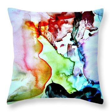 Dad Play Throw Pillow by Christine Ricker Brandt