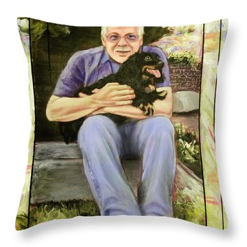 Daddy And Dita Throw Pillow