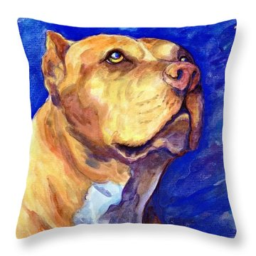 Daddy Throw Pillow by Ashley Kujan
