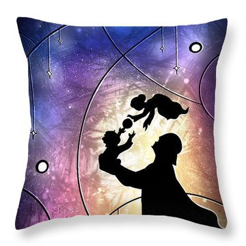 Darth Daddy Throw Pillow