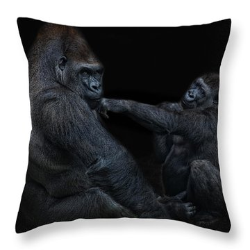 Daddy Is A Left Hook Like This Throw Pillow