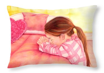 Daddy's Girl Throw Pillow by Jeanette Sthamann