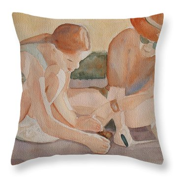 Daddy's Magnifying Glass Throw Pillow by Jenny Armitage