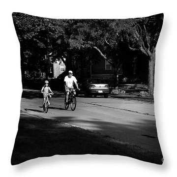 Daddy's Shadow Throw Pillow