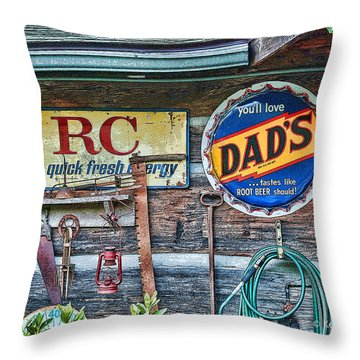 Dad's Throw Pillow by Kenny Francis