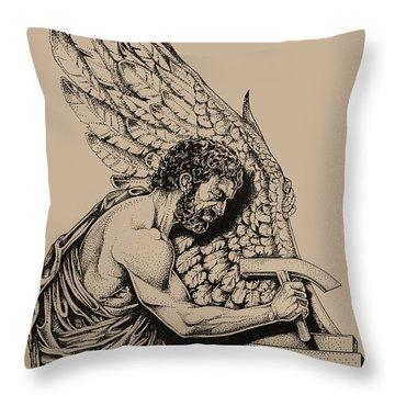 Daedalus Workshop Throw Pillow