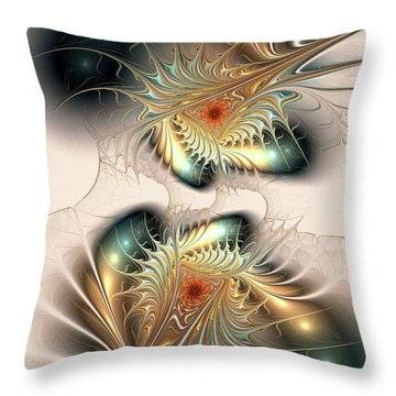 Daemons Within Throw Pillow by Anastasiya Malakhova