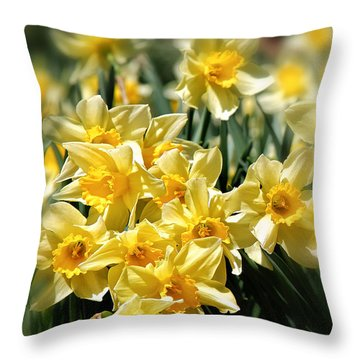 Daffodil Throw Pillow by Bill Wakeley