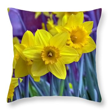 Daffodil Dance Throw Pillow