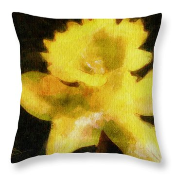 Daffodil Throw Pillow by Greg Collins