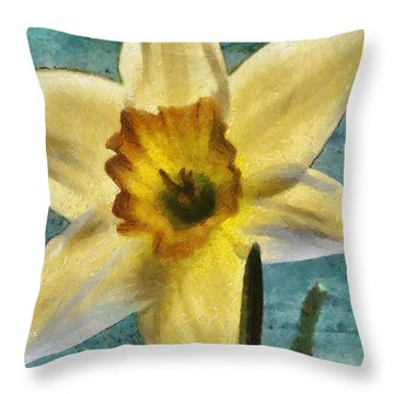 Daffodil Throw Pillow by Jeff Kolker