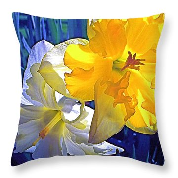 Daffodils 1 Throw Pillow by Pamela Cooper