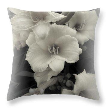Daffodils Emerge Throw Pillow by Daniel Hagerman