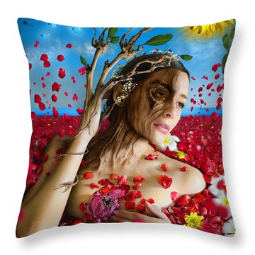 Dafne   Hit In The Physical But Hurt The Soul Throw Pillow