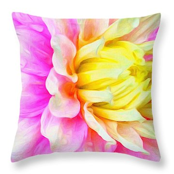 Dahlia Details Throw Pillow