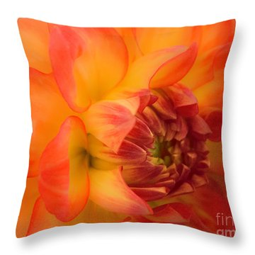 Dahlia Dream Throw Pillow