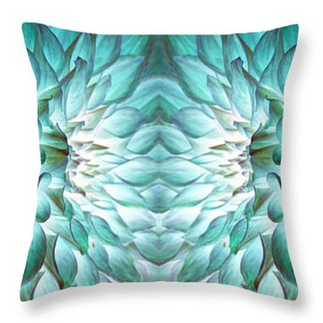 Dahlia Flower Art Throw Pillow by Sumit Mehndiratta