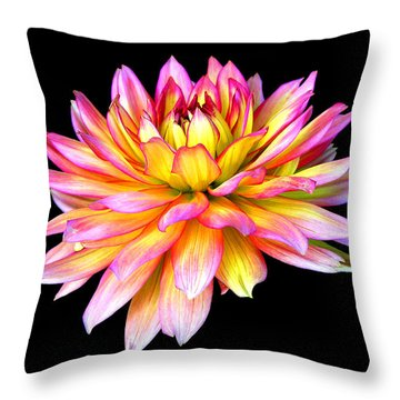 Dahlia Throw Pillow by Mariarosa Rockefeller