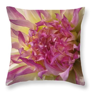Dahlia Named Angela Dodi Throw Pillow by J McCombie