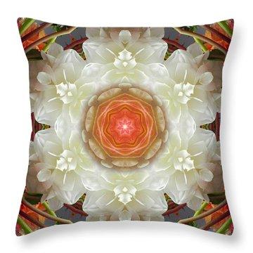 Dahlia Portal Mandala Throw Pillow