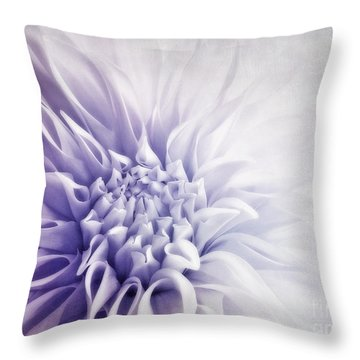 Dahlia Sun Throw Pillow by Priska Wettstein