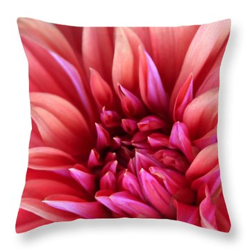 Throw Pillow featuring the photograph Dahlia by The Art Of Marilyn Ridoutt-Greene