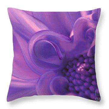 Dahlia Swirl Lavender Throw Pillow by Olivia Hardwicke