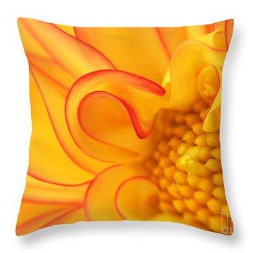 Dahlia Swirls Throw Pillow by Olivia Hardwicke