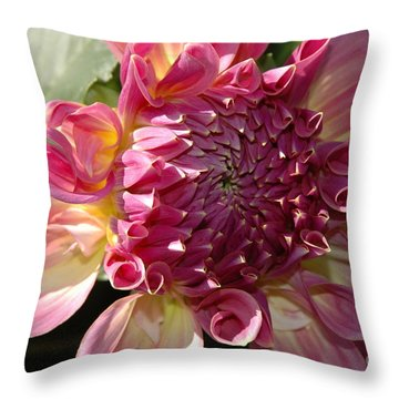 Dahlia V Throw Pillow