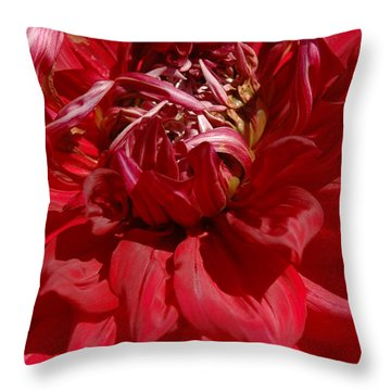 Dahlia Viiii Throw Pillow