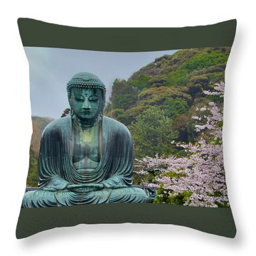 Daibutsu Buddha Throw Pillow