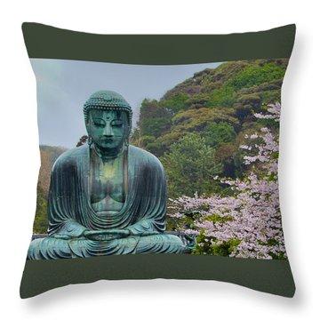 Daibutsu Buddha Throw Pillow by Alan Toepfer