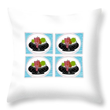 Daily Fruit Throw Pillow by Ann Calvo