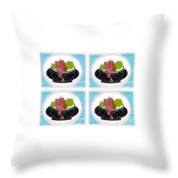 Throw Pillow featuring the digital art Daily Fruit by Ann Calvo