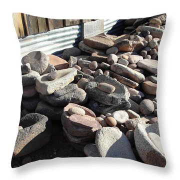 Throw Pillow featuring the photograph Daily Grind by Natalie Ortiz