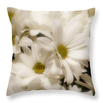 Dainty Daisy  Throw Pillow