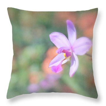 Dainty Orchid Throw Pillow by Kim Hojnacki
