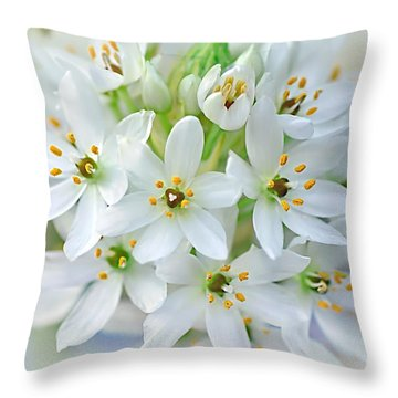 Dainty Spring Blossoms Throw Pillow by Kaye Menner
