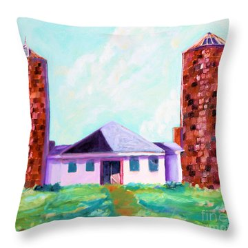 Dairy Barn Throw Pillow by Todd Bandy
