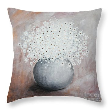 Daisies Throw Pillow by Home Art