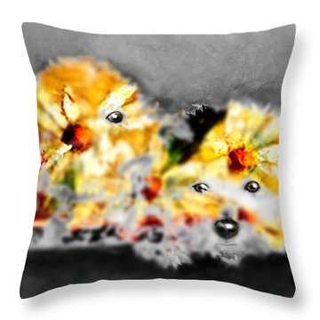 Daisy Animal Throw Pillow by Marcello Cicchini