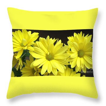 Daisy Family Throw Pillow