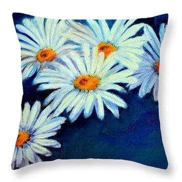 Daisy Fever  Pastel Throw Pillow by Antonia Citrino