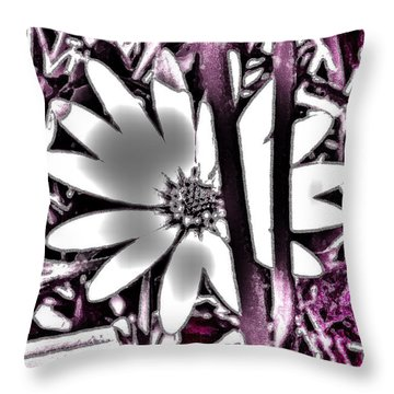 Throw Pillow featuring the photograph Daisy II by Cassandra Buckley